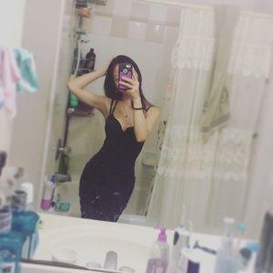 Bebe bodycon satin dress XXS